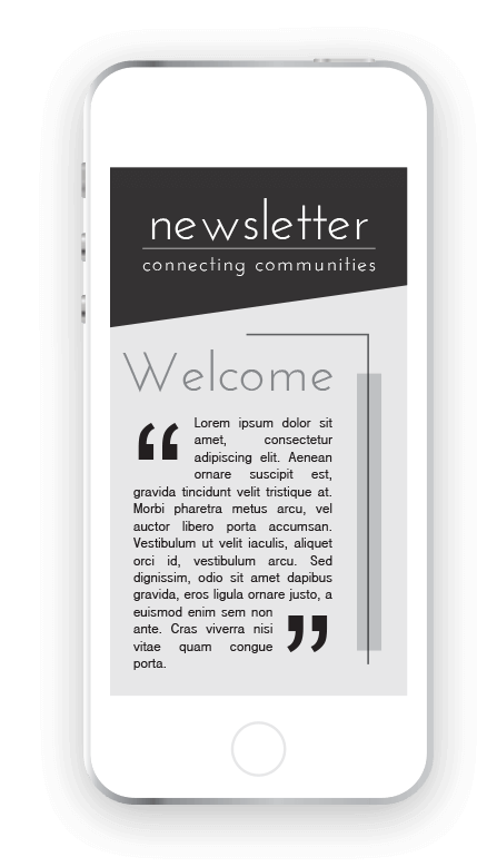 Newsletter on phone